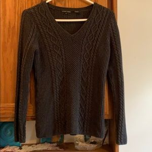 Jeanne Pierre gray long sleeve cable sweater small
